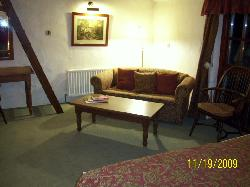 sitting area with pull out couch