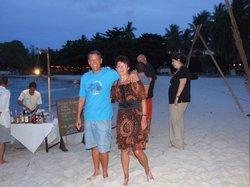 Abendliche Strandparty