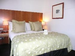 Nice big bed with soft pillows