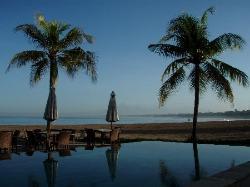 overlooking lap pool to beach