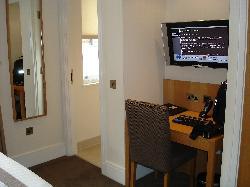 Desk & TV Area