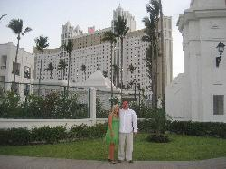 my husband and I infront of the Riu