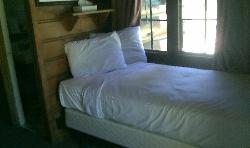 Twin bed on one side