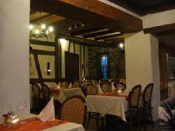 夕食のレストラン