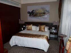 Bedroom portion of suite