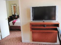 flat screen in the living room area