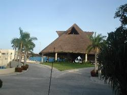 front of resort driving in