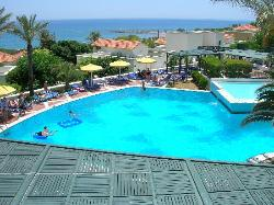 The swimming pool from the terrace