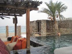 A beach front suite villa
