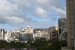 i could see diamond head off the balcony in my last room