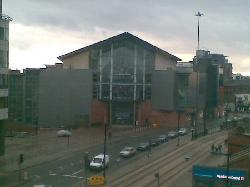 View from my room of Bridgwater Hall