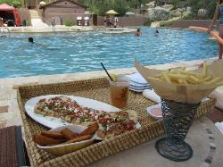 Flat Bread at Turquoise, near the pool