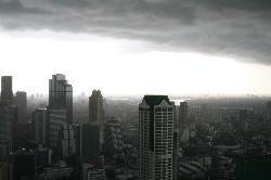 Bangkok Rainstorm from Lebua's 54th Floor
