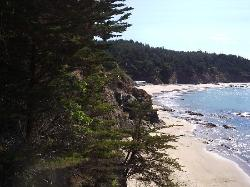 The Private Beach of Whale Watch Inn