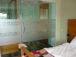 view of bathroom from bedroom