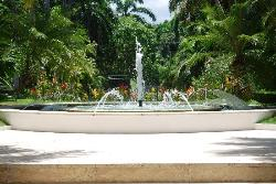 fountain in front of resort