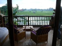 View from balcony room 22 Tegal sari