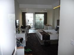 The nice but sparse room