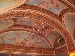 impressive murals on ceiling of the French Room