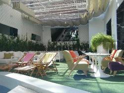 Downstairs sun terrace