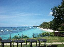 View of the beachfront from the resort