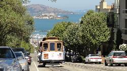 Cable Car vor der Bucht, im Hintergrund Alcatraz (27705939)