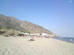 the beach at the foot of the hotel