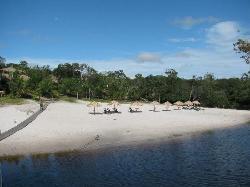 Praia de agua doce do Hotel Amazon eco park