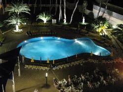 Hotel Main pool at Night