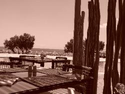 Greek restaurant and the see view