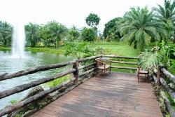 The lake facing the spa