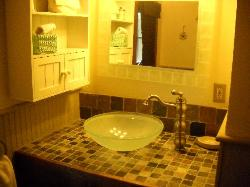 My favorite -- the bathroom!