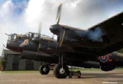 Lancaster NX611 starting its engines