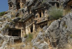 ‪Rock tombs in Myra‬