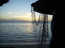 1st morning view from our fale