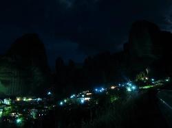Kastraki village by night