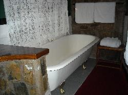 Nesbitt Castle-Claw foot tub in our room