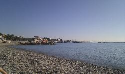 the beach at Cagnes