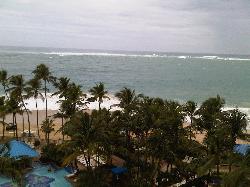 view outside window of ocean
