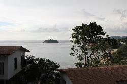 view to the beach from the room
