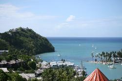 View from Juliette's Marigot Bay