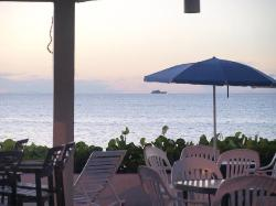 The view from the restaurant.
