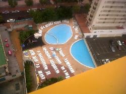 View of the pools from our balcony