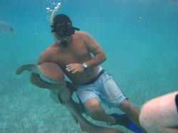 Lil Alphonse Snorkeling