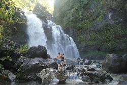 My broth and I at one of the many waterfalls on the way to Hana. (29052848)