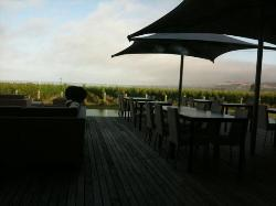 view from the table in the evening