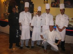 Group photo of the cooks on New Year's Eve