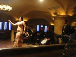 Belly dance at Ahlain lebanese restaurant