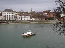 Ferry on Rhine River in Basel (29392060)