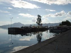 A small, tranquil harbour just outside the town square